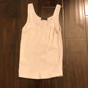 basic white tank top